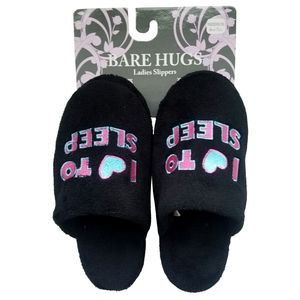 🆕Bare Hugs I Heart to Sleep Ladies Slippers